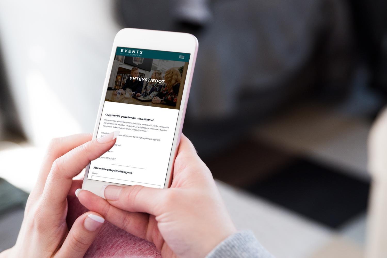 Creative Crue suunnitteli Event Tampereelle verkkosivut: rautalangan ja visuaalisen ilmeen. Sivuston koodasi yhteistyökumppani Geniem.
