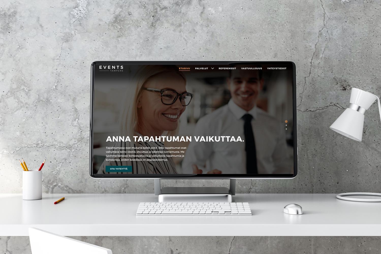 Creative Crue toteutti Events Tampereelle ilme- ja sivustouudistuksen