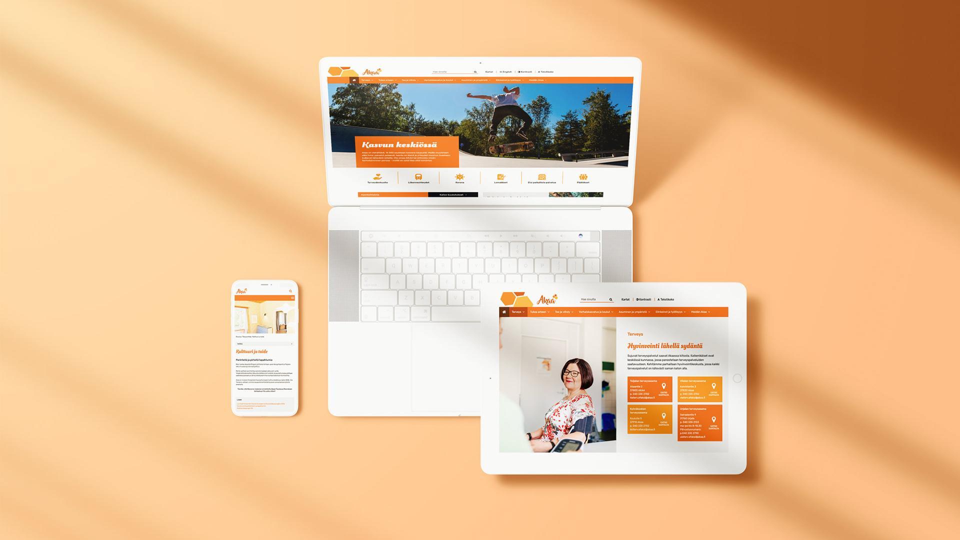 Creative Crue suunnitteli ja toteutti Akaan kaupungin sivustouudistuksen