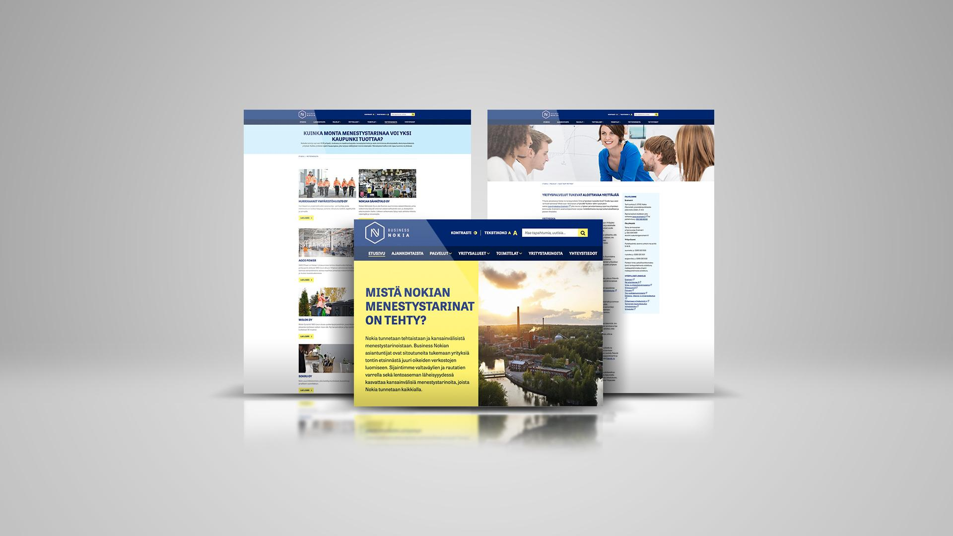 Creative Crue uudisti Business Nokian sivuston selkeämmäksi ja saavutettavammaksi