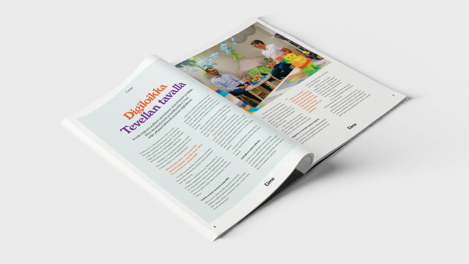 ICT Elmon järjestyksessä neljännen asiakaslehden toteutti Creative Crue.