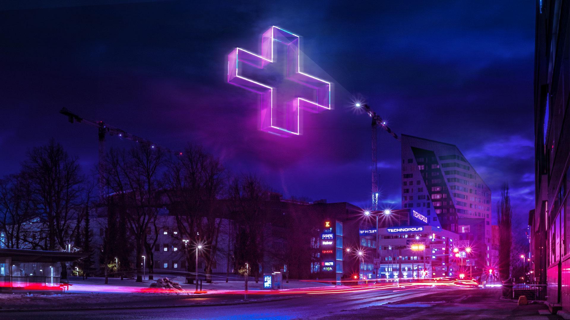 Futuristinen näkymä kaupungista