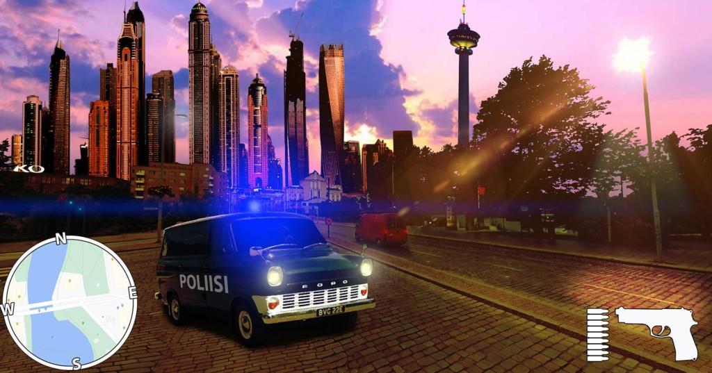 Pelinäkymä Tampereelta, taustalla Näsinneula