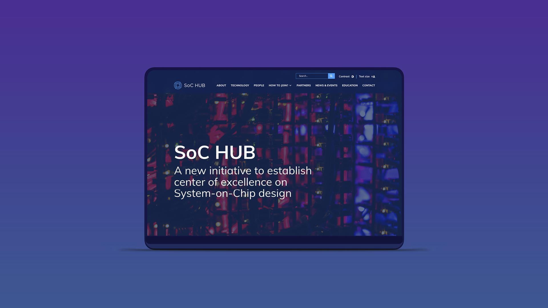 SocHub tietokoneen näytöllä